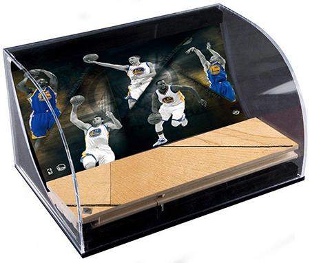 Golden-State-Warriors-NBA-Champions-Collectibles-Hardwood-UDA-Curve-Display