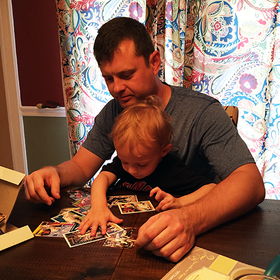 Upper-Deck-Dads-Read-Father-Son-Teach-Kids-Dad-Child-Card-Organizational-Skills