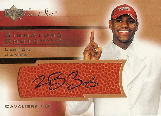 top-ten-best-03-04-lebron-james-king-chosen-one-rookie-autograph-cards-upper-deck-ud-sweet-shot