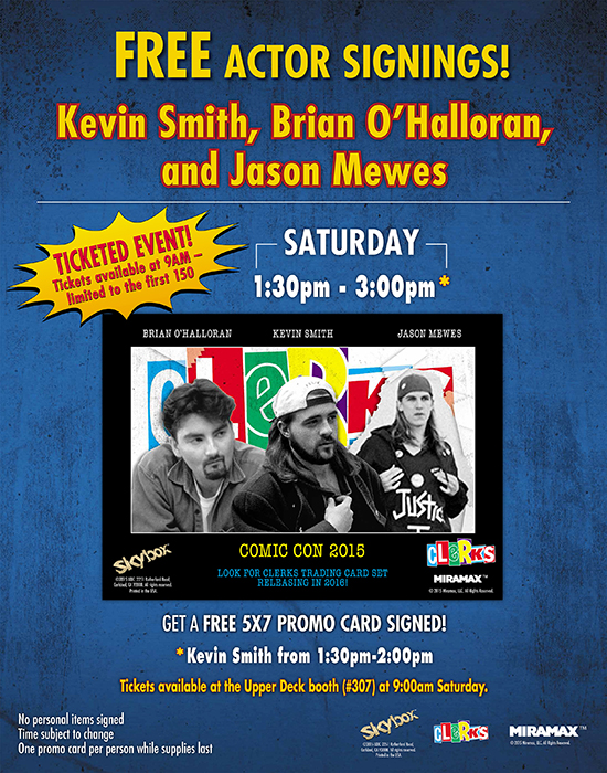 2015-Comic-Con-Upper-Deck-Clerks-Autograph-Signing-Kevin-Smith-Jason-Mews-Dante-Jay-Silent-Bob
