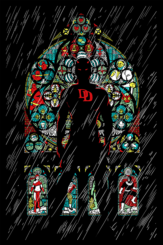 Comic-Con-Exclusive-2015-Marvel-Original-Art-Poster-Daredevil-Color-Variant
