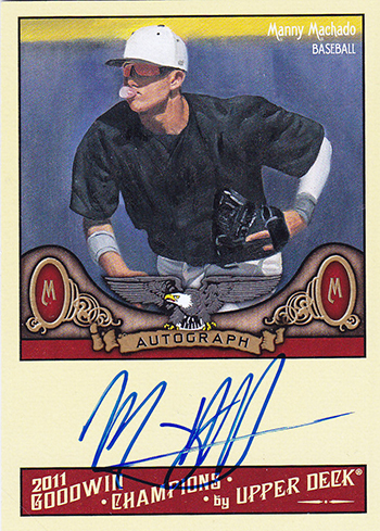 Goodwin-Champions-2011-Manny-Machado-Autograph-Card-Baseball