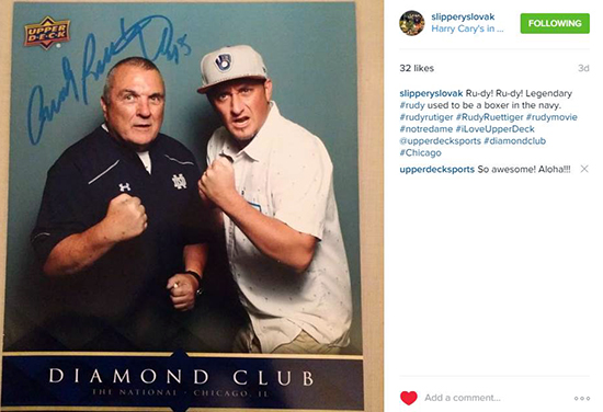 Giveaway-Upper-Deck-Give-Back-Fans-Diamond-Club-VIP-Party-National-Rudy-Ruettiger-2
