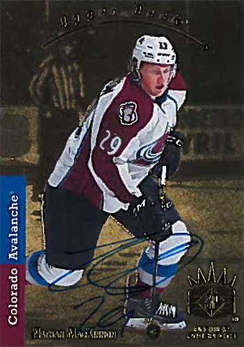 upper deck redemption nathan mackinnon collect redemption autograph rookie