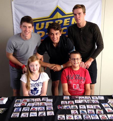 Upper Deck kids surprise mcdavid, marner strome