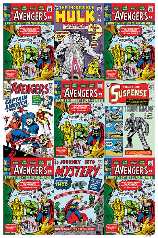 marvel avengers upper deck gallery origins premium poster
