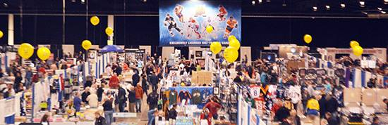 Fall-Expo-Upper-Deck-Certified-Diamond-Dealers-Yellow-Baloons-Box-Sales