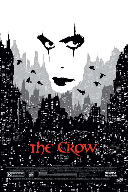 Upper-Deck-UD-Gallery-The-Crow-Movie-Poster-Black-White