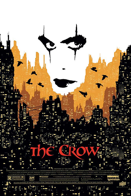upper deck ud gallery the crow movie poster halloween collect print