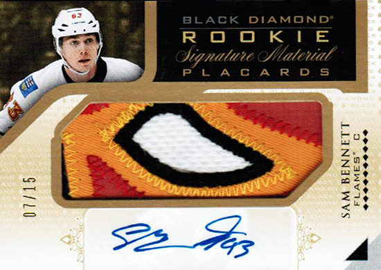 2015-16-Upper-Deck-NHL-Black-Diamond-Top-Best-Rookie-Card-Sam-Bennett-Autograph-Patch