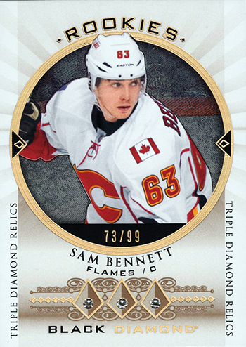 2015-16-Upper-Deck-NHL-Black-Diamond-Top-Best-Rookie-Card-Sam-Bennett-Triple-Relic