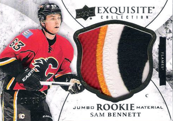 2015-16-Upper-Deck-NHL-Exquisite-Collection-Top-Best-Rookie-Card-Sam-Bennett-Patch