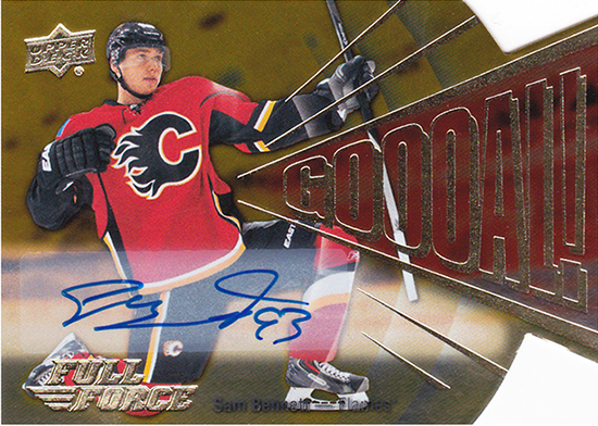 2015-16-Upper-Deck-NHL-Full-Force-GOOOOOAL-Autograph-Top-Best-Rookie-Card-Sam-Bennett