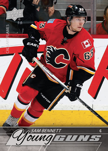 2015-16-Upper-Deck-NHL-Young-Guns-Top-Best-Rookie-Card-Sam-Bennett