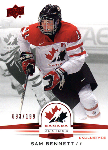 2015-16-Upper-Deck-Team-Canada-Top-Best-Rookie-Card-Sam-Bennett