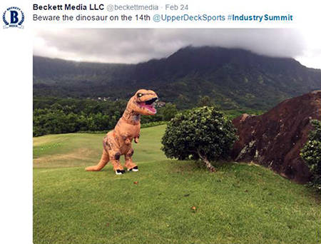 Hawaii-Trade-Show-Beckett-Upper-Deck-Golf-Tournament-Dinosaur-Course-Sighting-14th-Hole