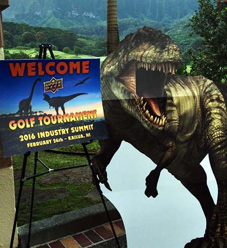 Hawaii-Trade-Show-Beckett-Upper-Deck-Golf-Tournament-Dinosaurs-1