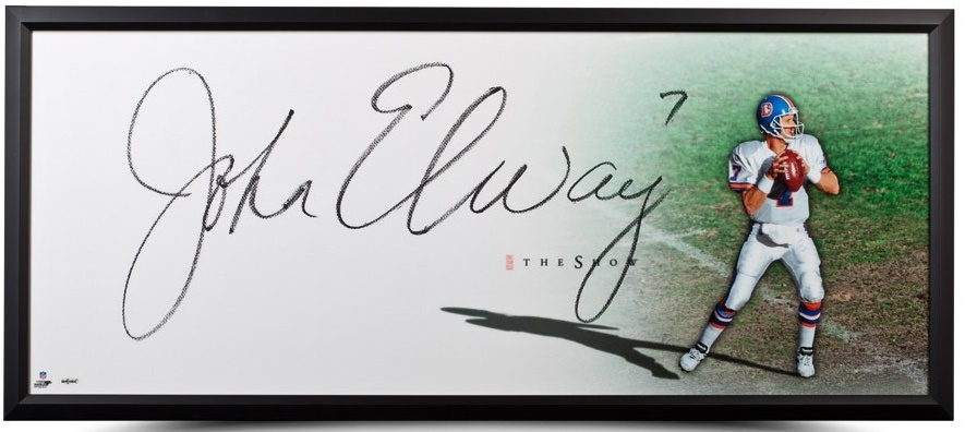 "Autographed John Elway ""The Show"""