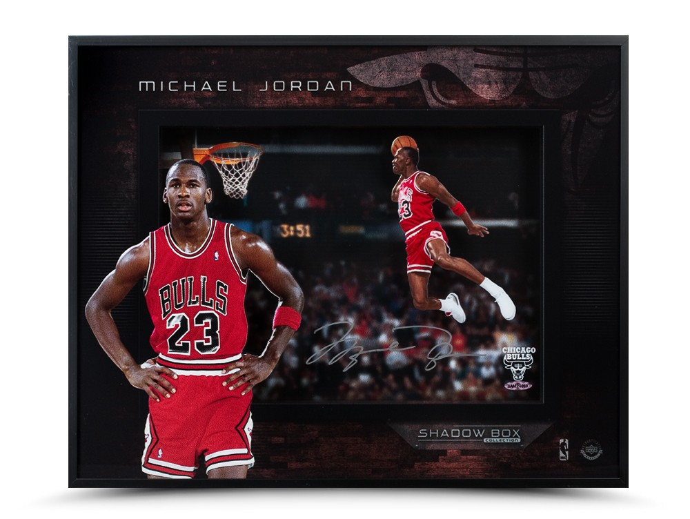 "Michael Jordan Autographed '88 Slam Dunk 16""x20"" Shadow Box"