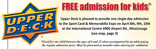 2016-Upper-Deck-Spring-Sport-Card-memorabilia-Expo-kids-Day-Admission-voucher