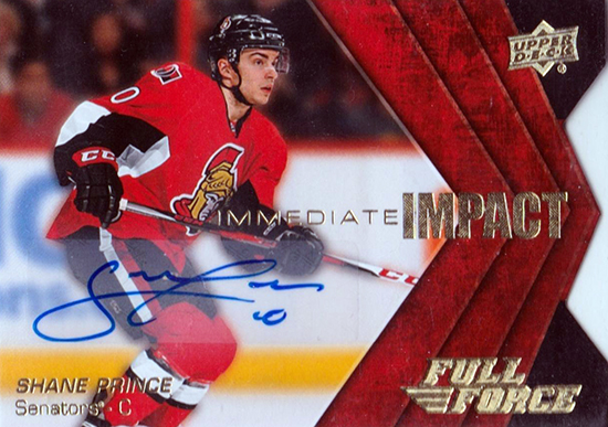 2015-16-NHL-Upper-Deck-Shane-Prince-Rookie-Card-Full-Force-Autograph