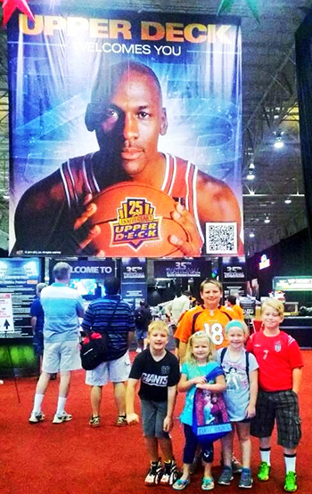 National-Sports-Collectors-Convention-Upper-Deck-Kids-Children-Games-Fun-Engagement-Photo-Jordan-Opp