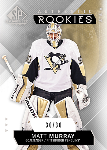 2015-16-NHL-SP-Game-Used-Rookie-Update-Matt-Murray-Pittsburgh-Penguins-Card