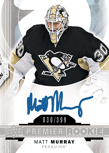 2015-16-NHL-UD-Premier-Rookie-Autograph-Matt-Murray-Pittsburgh-Penguins-Card