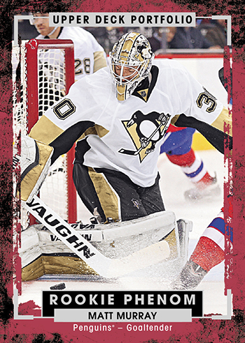 2015-16-NHL-Upper-Deck-Portfolio-Rookie-Phenom-Matt-Murray-Pittsburgh-Penguins-Card