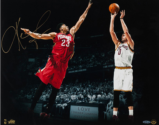 Upper-Deck-Authenticated-Exclusive-Signed-Autograph-Memorabilia-Kevin-Love-Cleveland-Cavaliers-Corner-Jumper-Photo