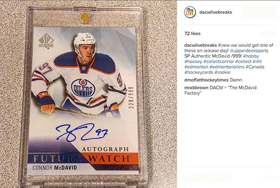 2015-16-NHL-SP-Authentic-Future-Watch-Connor-McDavid-Rookie-DA-Cardworld-Live-Breaks
