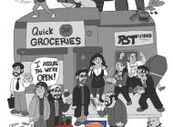 "Upper Deck teams up with artist Steve Stark to create a limited edition ""Clerks: A Day in the Life"" poster based off the 1994 Kevin Smith classic"