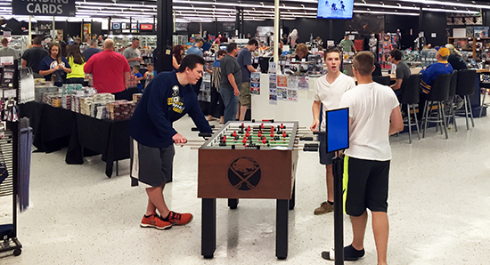 Upper-Deck-Dave-Adams-Williamsville-Night-soccer-Game-In-Store-Kids-Fun