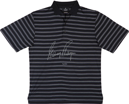 gary-player-autographed-black-polo-purple-pinstripes-upper-deck-authenticated-signed