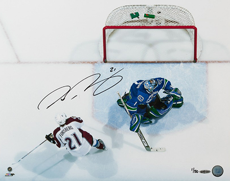 peter-forsberg-autographed-back-of-net-photo-upper-deck-authenticated-signed-autograph