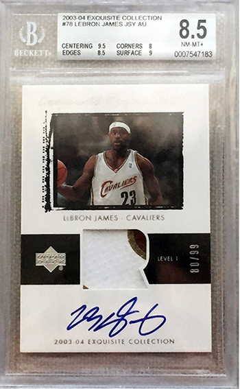 upper-deck-exquisite-collection-rookie-card-lebron-james-cleveland-cavaliers-ebay