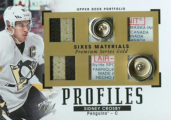2015-16-Upper-Deck-NHL-Portfolio-Profiles-Memorabilia-Sidney-Crosby