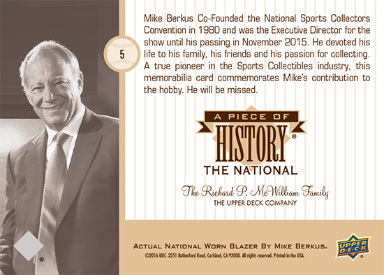 2016-National-Sports-Collectors-Convention-Upper-Deck-Mike-Berkus-Tribute-Memorabilia-Card-Back