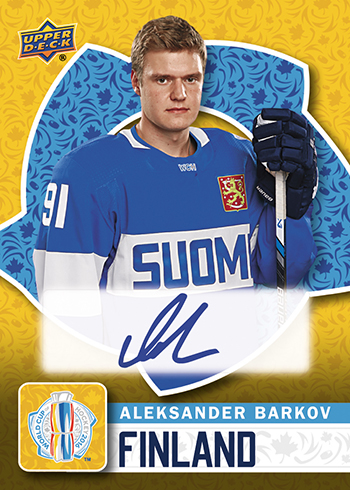 2016-Upper-Deck-World-Cup-of-Hockey-Promotional-Set-Autograph-Aleksander-Barkov