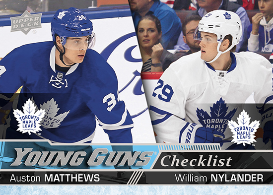 2016-17-nhl-upper-deck-series-one-young-guns-rookie-card-auston-matthews-william-nylander-checklist