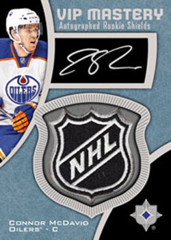 2015-16-ultimate-collection-epack-quest-exclusive-vip-rookie-shield-autograph-connor-mcdavid
