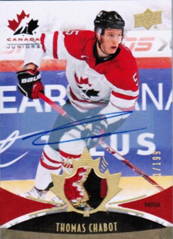 2016-17-NHL-Upper-Deck-Rookie-Radar-Ottawa-Senators-Thomas-Chabot-autograph-patch-Team-Canada-Juniors