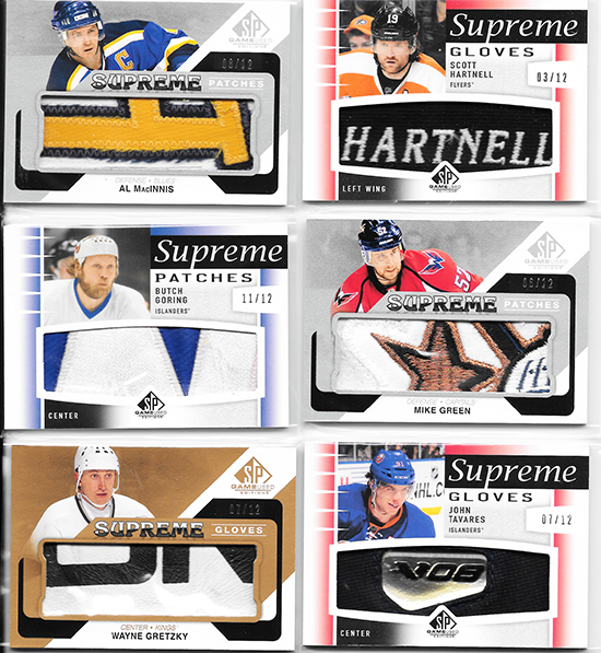 SP-Game-Used-Edition-Supreme-Patch-Glove-Ameet-Acharya-Gretzky-Tavares-Greet-Hartnell-MacInnis-Boring