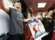 Upper Deck and Noah Hanifin Surprise Carolina Hurricanes Equipment Manager & Goalie Jorge Alves for his Birthday