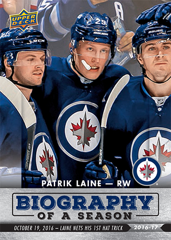2016-17-NHL-Biography-of-a-Season-Upper-Deck-Rookie-Cards-Patrik-Laine-Hat-Trick-1