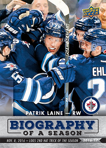 2016-17-NHL-Biography-of-a-Season-Upper-Deck-Rookie-Cards-Patrik-Laine-Hat-Trick-2