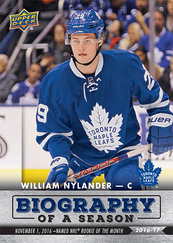 2016-17-NHL-Biography-of-a-Season-Upper-Deck-Rookie-Cards-William-Nylander
