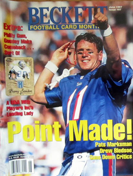 Beckett-Magazine-Football-Point-Made-Drew-Bledsoe-Cover-Tom-Brady