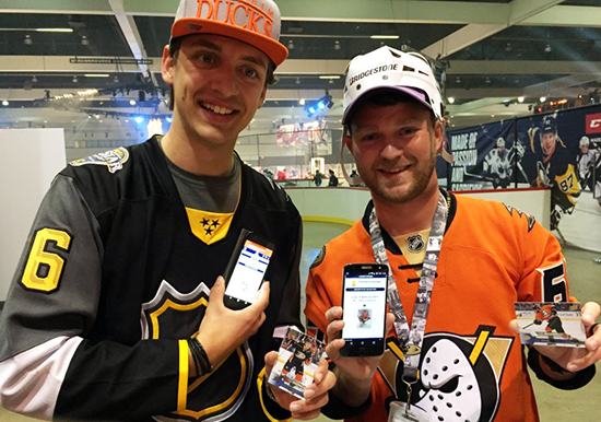 Upper-Deck-e-Pack-NHL-All-Star-Fan-Fair-Street-Collector-Phone-App-Guys