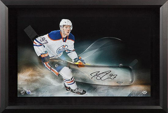 upper-deck-authenticated-connor-mcdavid-autographed-acrylic-stick-blade-edmonton-oilers-picture-framed-86994